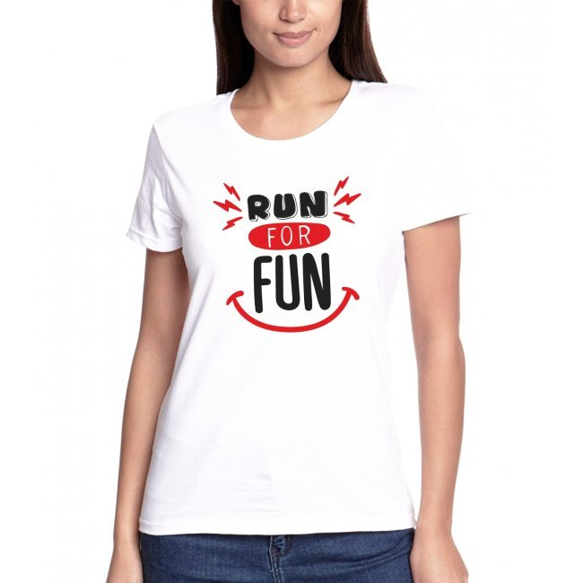 T-shirt Run For Fun κόκκινο